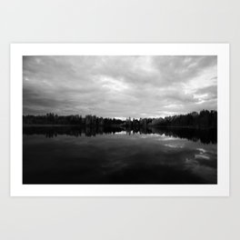long lake BC B&W print Art Print