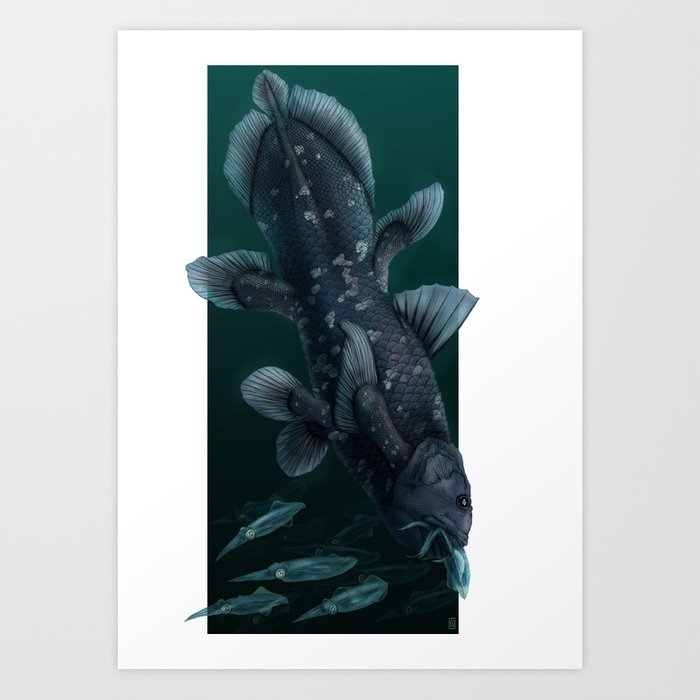 Coelacanth Art Print