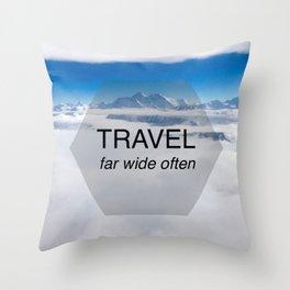 Himala-YEAH! (Travel far quote) Throw Pillow