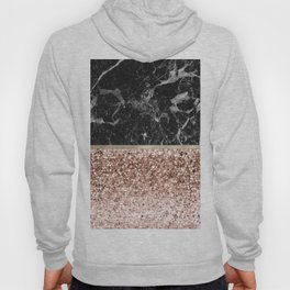 Warm chromatic - rose gold and black marble Hoody