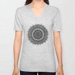 Zentangle - Sunflower Unisex V-Neck