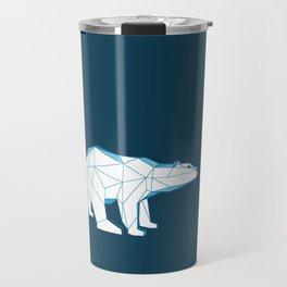 Blue geo polar bear looking for love.. Travel Mug