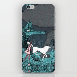 Woman Wolf wandering iPhone Skin