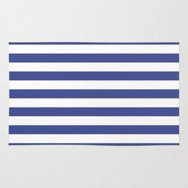 CVS0089 Ultramarine Blue and White Stripes Rug