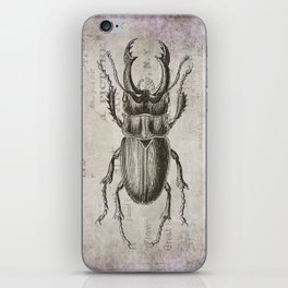 Grunge Style Stag Beetle iPhone Skin
