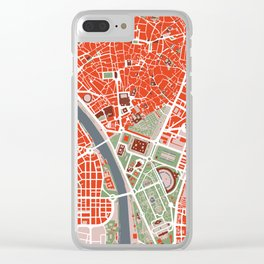 Seville city map classic Clear iPhone Case