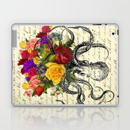Octopus Attacking Flowers Laptop & iPad Skin