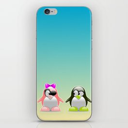 two little penguins iPhone Skin