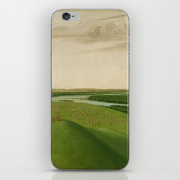 George Catlin - Fort Union, Mouth of the Yellowstone River iPhone Skin