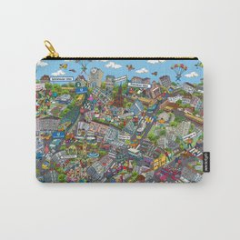 Illustrated map of Berlin-Prenzlauer Berg Carry-All Pouch