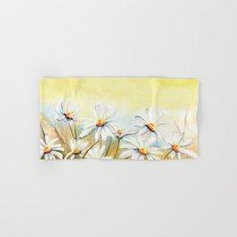 Daisies Watercolor Hand & Bath Towel