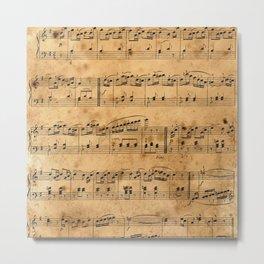 Music sheets, ancient Metal Print