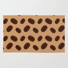 Cool Brown Coffee beans pattern Rug