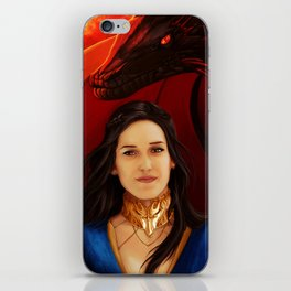 Fire and Blood (Black Hair) iPhone Skin