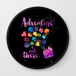 Adventure is out there. Up Wall Clock