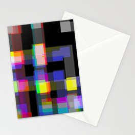 Boogie Woogie Square Stationery Cards