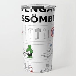 Superheroes Assembling - Colour Travel Mug