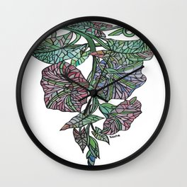 Art Nouveau Morning Glory Isolated Wall Clock