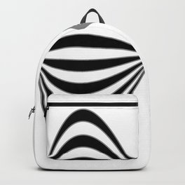 Fractal Wave Abstract Lines Backpack
