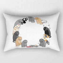 A Cat's Patience Rectangular Pillow