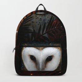 Barn owl at night Backpack