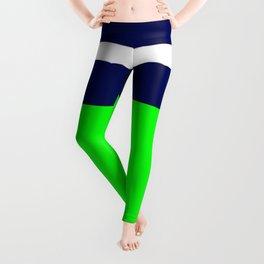 Summer Patio Perfect, Green, White, Navy Leggings
