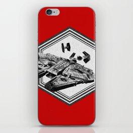 Millennium Falcon TIE Fighter Dotwork - Pointillism Art iPhone Skin