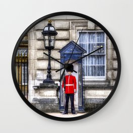 Buckingham Palace Queens Guard Art Wall Clock