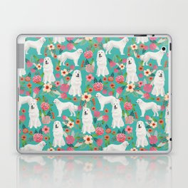 Great Pyrenees florals pattern dog breed must have dog lover gifts Laptop & iPad Skin