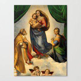 Sistine Madonna with Child and Angels Virgin Mary Religion Catholic Gift Canvas Print