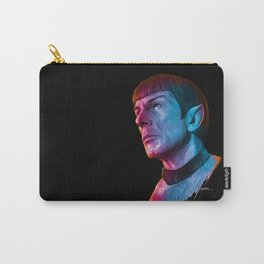 "Homage to Leonard Nimoy - Mr. Spock ""Star Trek"" (colored version) Carry-All Pouch"