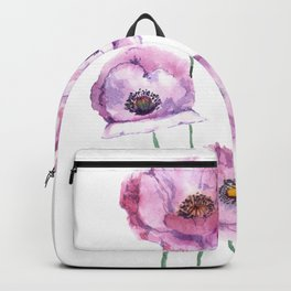 very nice watercolor flowers of anemone Backpack