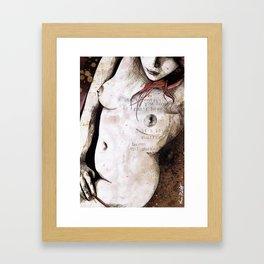 Rotten Apple (nude redhead girl, erotic graffiti portrait) Framed Art Print