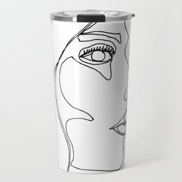 DISAPPOINTMENT ( ONE LINE DRAW) Travel Mug