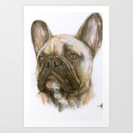 French bulldog original art print Art Print