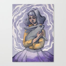 The Enchanted Rabbit Canvas Print