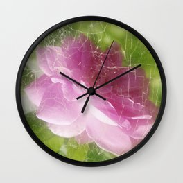 Pinky Rose Wall Clock