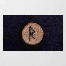 Raidho Elder Futhark Rune Travel, journey, vacation, relocation, evolution, change of place, rhythm Rug