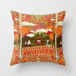 MORNING PSYCHEDELIA Throw Pillow