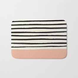 Peach x Stripes Bath Mat