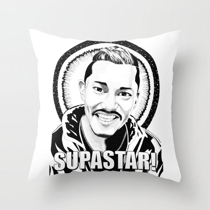 Supastar! Throw Pillow