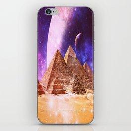Galaxy Pyramids iPhone Skin