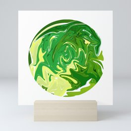 Green Liquify Mini Art Print