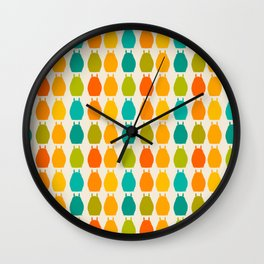 my neighbor pattern Wall Clock