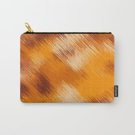 brown orange and dark brown abstract background Carry-All Pouch