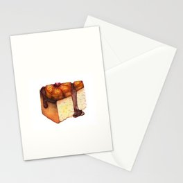 Pineapple Upside-Down Cake Slice Stationery Cards