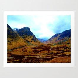 Glencoe, Scottish Highlands, in the Autumn Art Print