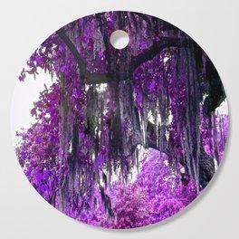 Trees Purple Moss Cutting Board