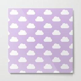 Nuvens lilás Metal Print