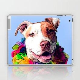 Dog in Flowers Laptop & iPad Skin